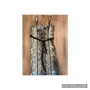 Snake skin cocktail dress
